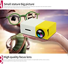 $42 » PGF@ Mini Projector, Meer YG300 Portable Pico Full Color LED LCD Video Projector for Children Present, Video TV Movie, Party Game, Outdoor Entertainment with HDMI USB AV Interfaces and Remote Control