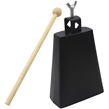 Cencerro de percusi/ón Cencerro de percusi/ón de Metal con Accesorios de bater/ía de Palo Instrumento Musical para bater/ía