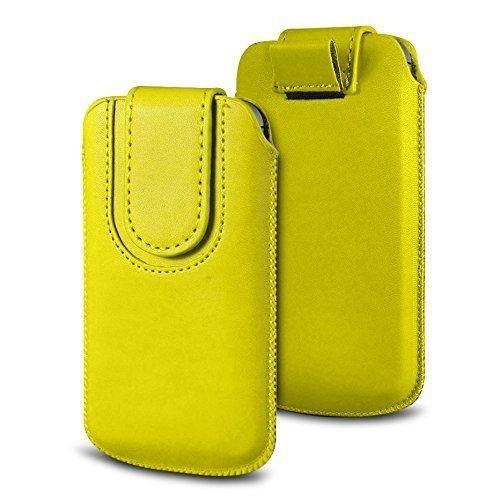 N4U Online Various Farbig Magnetisch PU Leder Zug Kippen Tab Schutzhüllen Tasche für Doogee X5S - Gelb