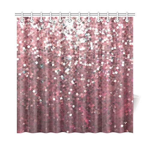 Zemivs Wohnkultur Bad Vorhang Shiny Mirrorred Eps 8 Polyester Stoff Wasserdicht Duschvorhang Für Badezimmer, 72X72 Zoll Duschvorhang Haken Enthalten