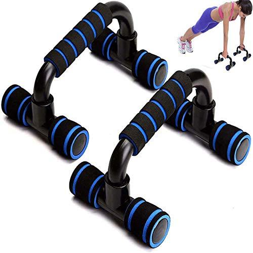 FOOING Soporte para Flexiones Push Up Bars Stand - Barras para Flexiones Gimnasio Ejercicio Formación - para Ejercicios, Gimnasio Equipo de Entrenamiento para Hombres y Mujeres (Azul)