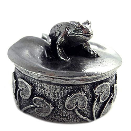 Les Trésors De Lily [Q2768 - Schmucketui ' Geheimbox Handwerk (GGrreennoouuiilllllee) im Alter von Silber - Muster 25x27 mm.