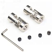 TEZONG Universal Steering Joint Shaft Coupler 3x3mm Motor Shaft Combination Connector for RC Boat Car Crawler
