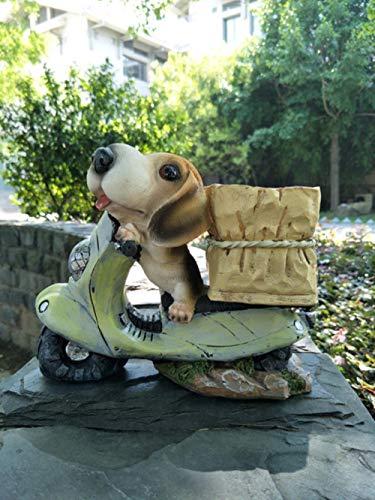 Hars Mini Hond Puppy Bonsai Miniatuurbeeldjes Bloempot Terrarium Planter Tuindecoratie Dier Micro Landschap Ornamenten, C, S