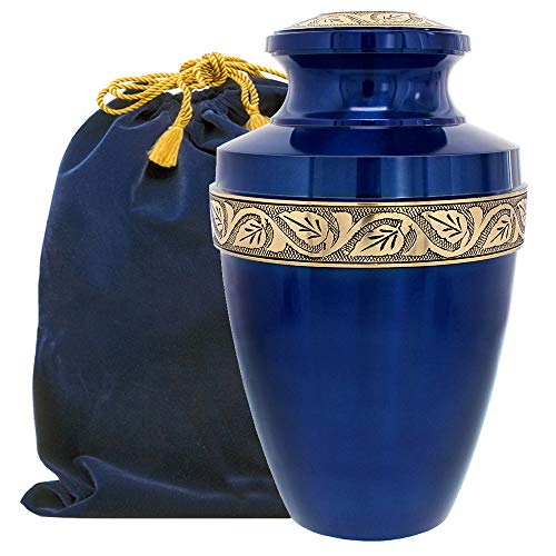 Serenity Large Blue Beautiful Adult Urn