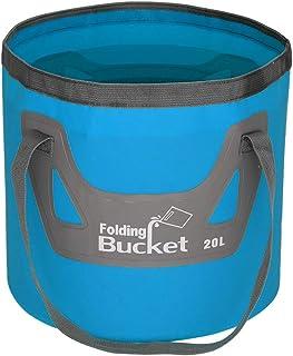 mingtongli Benna di Acqua PVC 20L Contenitore Pieghevole dell'Acqua Impermeabile Pesca Portatile Barile Pail, Blu
