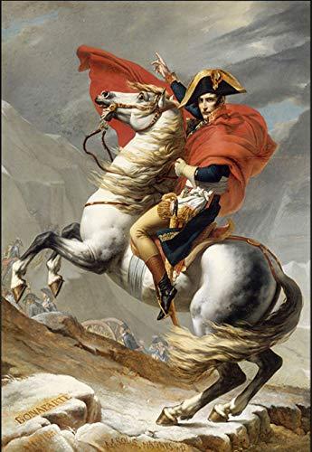 Póster mural de Napoleón Cruzando los Alpes por Jacques Pinturas en la pared Reproducciones Napoleón Cuadros (100 x 150 cm)