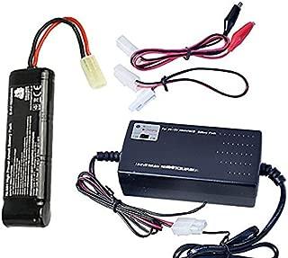 Bulldog Airsoft Smart Charger for 8.4V-9.6V NiMH Battery Packs 1600 mah with Mini Tamiya Connector + Standard Tamiya Adapter,