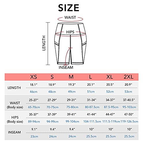 LAPASA Pantalón Corto Deportivo para Mujer, Leggings con Bolsillos Laterales, Pantalones de Yoga y Ejercicio L52B1 Versión 2021