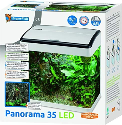 Superfish Panorama 35 LED Aquarium - 35 L - Wit - 38 x 26.5 x 39.5 cm