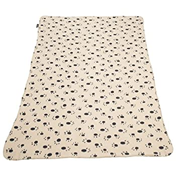 Bunty Couverture Polaire Douce et Chaude pour Animal Domestique, pour Chien, Chat et Animal - 140 x 100 cm - Crème