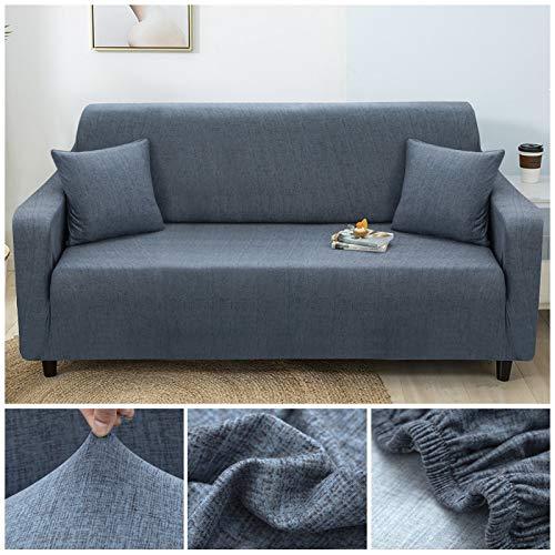WXQY Funda de sofá elástica con patrón Cruzado Estiramiento Fundas de sofá Todo Incluido para Sala de Estar Funda de sofá Loveseat Fundas de sofá A24 2 plazas
