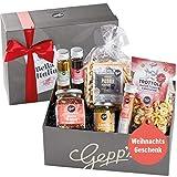 Gepp's Feinkost Bella Italia Geschenkbox zu Weihnachten I Italienische Delikatessen, hergestellt nach eigener Rezeptur | Gourmet-Geschenk zum Geburtstag I Geschenkkorb für Männer und Frauen (A0001)