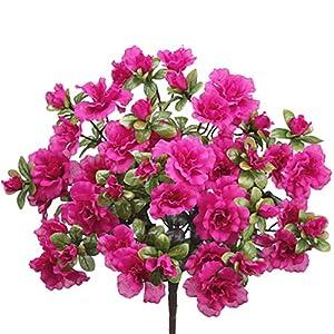 """Silk Flower Arrangements 25"""" Silk Azalea Flower Bush -Beauty (Pack of 12)"""