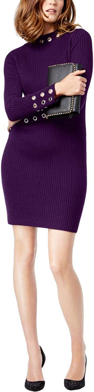 Inc Womens Mock Neck Sheath Sweaterdress
