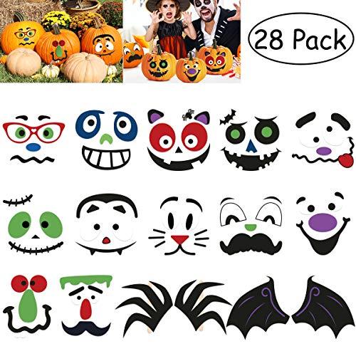 TOYMYTOY Kürbis Aufkleber Halloween Kürbis Deko Herbst Kürbisse Party Deko Halloween Goodie Taschen Spielzeug Pumpkin Stickers 28PCS