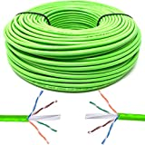 Mr. Tronic 100m Câble de Réseau Ethernet | CAT6, AWG24, CCA, UTP, RJ45 | Câble...