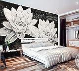 Papel Pintado Pared 3D Fotomurales Flor De Loto Mosaico Vintage Pared Papel Tapiz 3D Mural Pared Salon Decorativos