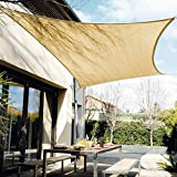 Tikola 10' x13' Rectangle Sun Shade Sail, 95% UV Block Double Needle Double Layer Resistant Awning for Outdoor Patio Garden, Backyard Activities