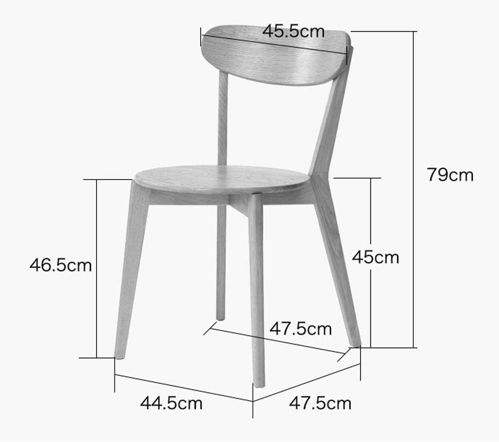 LF Chaise de Salle, Chaise de Bureau Simple, créative Dossier, Chaise Loisirs, Maison Adulte Chaise de Salle Simple (Color : Walnut Color) Walnut Color