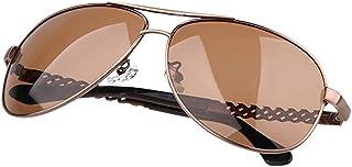 aa5fc12315 Gafas de sol Aviador Vogue UV Running polarizadas Huecas metálicas Grandes  del Marco de los Hombres