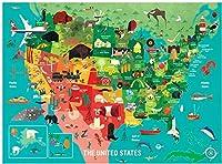 TYY 1000ピースジグソーパズル 50カ国の鮮やかなイラスト付き。ファミリーエンターテインメントの子供たちは脳のゲームを開発します