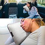 Alkamto Reisekissen - Camping Kissen - Memory-Schaum mit extra Baumwolle Überzug – inklusive Tasche – Orthopädisches Nackenstützkissen Visco Schaum–Temperatur Regulierung /40x25x10 cm - 7