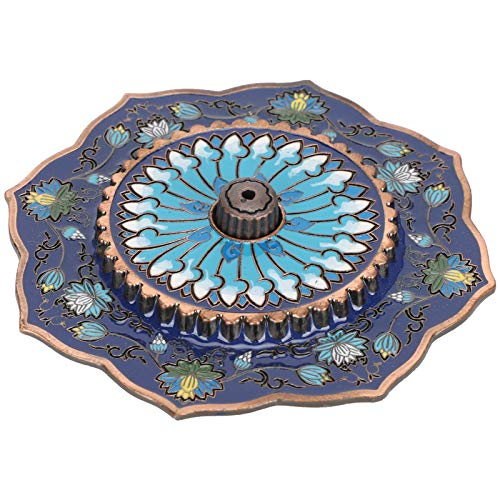 Asixxsix Receptor de Cenizas de Incienso, Soporte de Incienso, decoración del hogar, artesanía en casa, Placa de aleación para Salas de Yoga