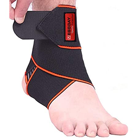 Sprains Fatigue Adjustable Compression Ankle Support Wrap Perfect for Sports Ankle Brace 2 Pack Protects Against Chronic Ankle Strain One Size Fits All