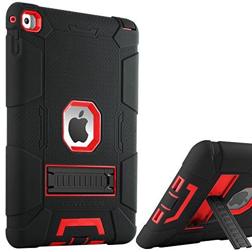 BENTOBEN iPad Air 2 Hülle, iPad Air 2 Schutzhülle, iPad Air 2 Tablet Tasche mit Ständer Heavy Duty 3 in 1 Hybrid Hülle PC Silikon Cover rutschfest stoßfest Hülle für iPad Air 2 (A1566 / A1567)