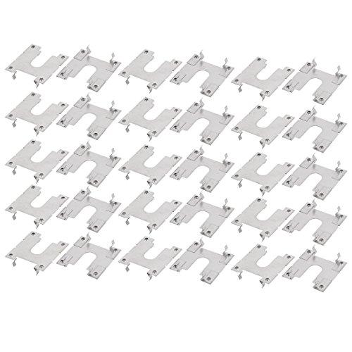 sourcing map 30Pcs Solar Photovoltaik Teile Edelstahl Leitfähige Erdung Platte Leitbleche DE de