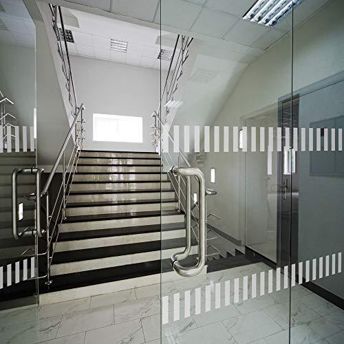 LAVICO|M Durchlaufschutz für Glasflächen Glastüren und Fenster ~ Streifenmuster in 75cm Breite ~ satinierte Oberfläche Etched-Glas-Dekor Folie von ORAFOL®