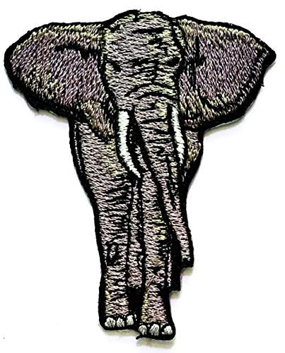 Review Of Nipitshop Patches Gray Elephant African Wild Zoo Animal Patch for Cartoon Kids Patch Ideal for adorning Your Jeans Hats Bags Jackets Shirts or Gift Set