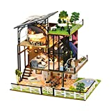 learnarmy DIY Puppenhaus 3D Miniaturhaus Kit mit LED Licht Kunsthandwerk Geschenk für Valentinstag,...