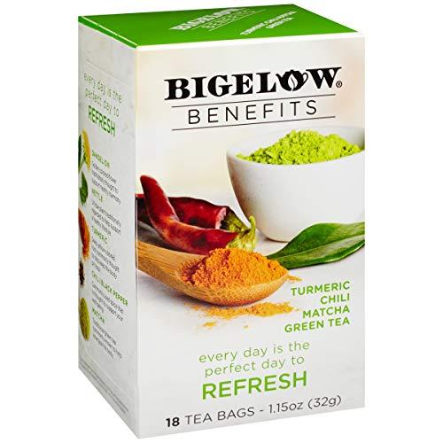 Bigelow Benefits Refresh Turmeric Chili Matcha Green Tea, 18 Count (Pack of 6), 108 Tea Bags Total