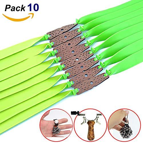QZY Sling Shot Rubber Bands 10Pcs Catapult Pull Flat Bandas De Gran Alcance Elastic Rubber Parts Green