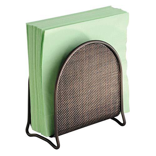 mDesign servilletero para encimeras de cocina, mesa, color bronce
