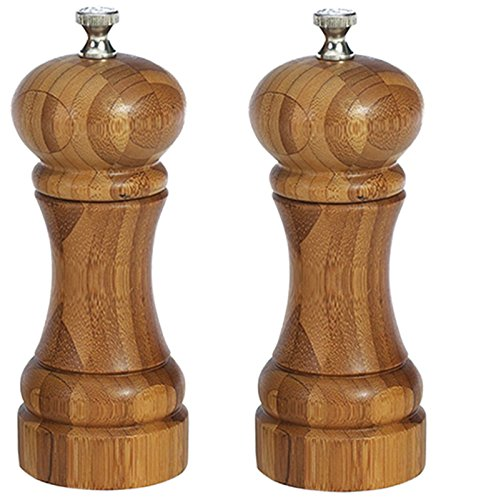 William Bounds Bamboo Mill and Shaker Set, 5 inch - 1 each.