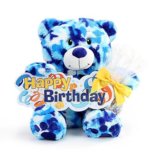 Gift Delight Birthday Bear Candy Gift - Sky Camo Print