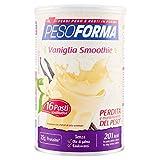 Pesoforma Smoothie Pasti Sostitutivi Dimagranti Shake Vaniglia, Ricco in Fibre, SOLO 201 Kcal per pasto - 16...