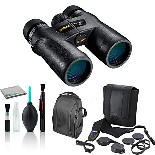 Nikon 10x42 Monarch 7 ATB All-Terrain Binocular 7549 Bundle with Cleaning Kit + Deluxe Padded Backpack