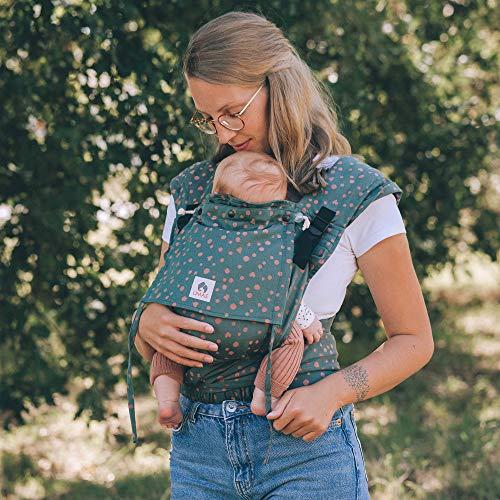 LIMAS Plus Babytrage Halfbuckle | 56-104 cm | Bauchtrage & Rückentrage & Hüfttrage | ab Geburt bis Kleinkindalter | Baby Carrier | Hope