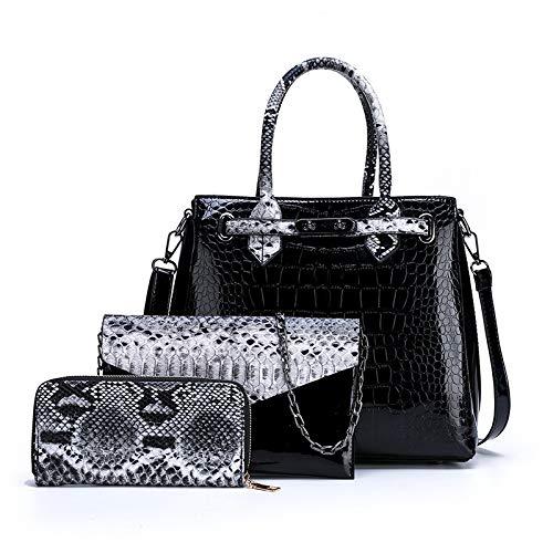 Damen Umhängetasche PU Fashion Stitching Farbe Mehrteiliges Set Neue Damen Tasche Messenger Handtasche