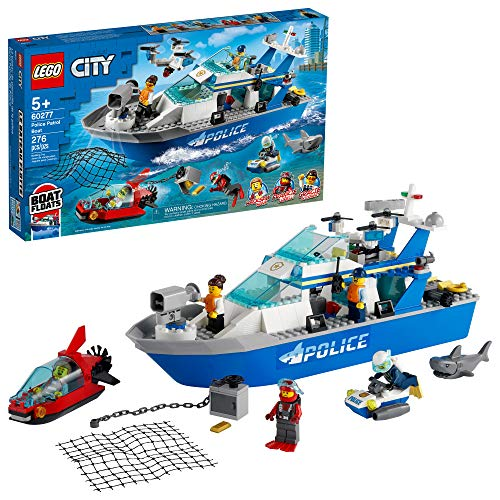 LEGO City Police Patrol Boat 60277 Building Kit; Cool Police Toy for Kids, New 2021 (276 Pieces)