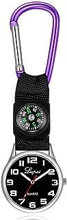 Dilwe Sportklocka, avslappnad multifunktionell kompassklocka med en karbinhake som hänger på fickan, löparklocka för campi...