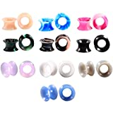 Huacan 20PCS Dilatatatori a Tappo Silicone Piercing a Tunnel Gauge 8mm