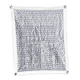 White Aluminet Shade Cloth Panels Sun Block Reflective Shade Panel Block 90% of UV Resistant with Free Cilps for Greenhouse Garden Plants Barn Kennel Car Roof Cover, Multiple Sizes