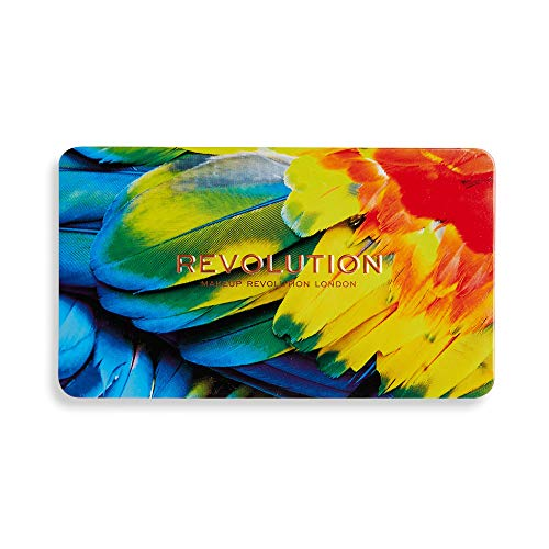 Makeup Revolution Eyeshadow Palette, Forever Flawless Bird of Paradise, Eye Shadow Make Up Containing Glitters and Shimmers, Matte Eyeshadow Palette with Blazing Matte Colors