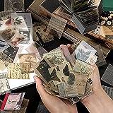 400 hojas vintage scrapbook material de papel DIY pegatinas paquetes arte arte arte arte para lácteos decorativo kit de colección de papel