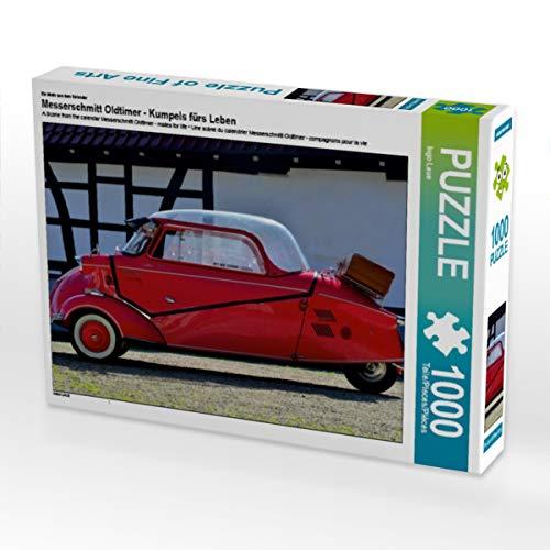 CALVENDO Puzzle Messerschmitt Oldtimer - Kumpels fürs Leben 1000 Teile Lege-Größe 64 x 48 cm Foto-Puzzle Bild von Ingo Laue